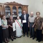 I primi cento anni di Suor Amedea: gli auguri del sindaco alla signora Angela Di Folco
